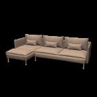 SÖDERHAMN 3er-Sofa und Récamiere von IKEA