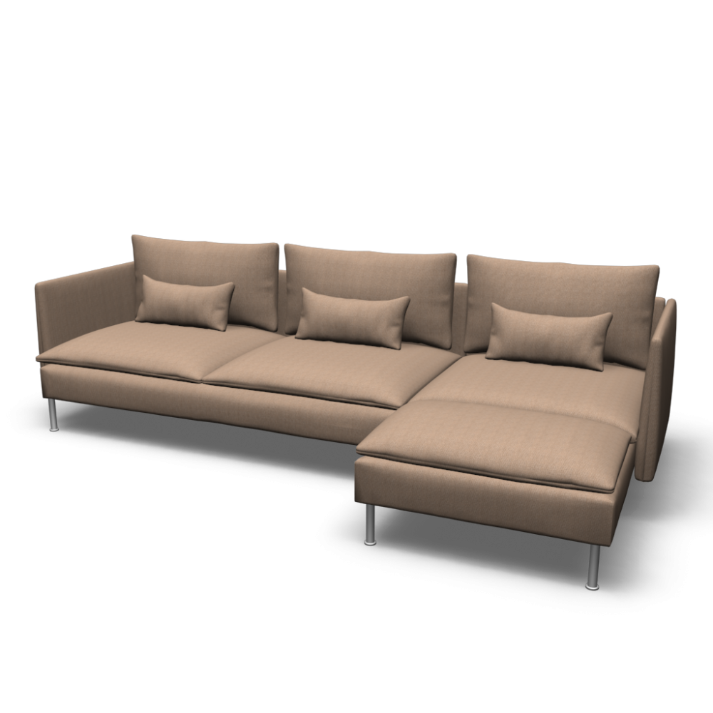 S derhamn sofa and chaise lounge design and decorate for Chaise design ikea