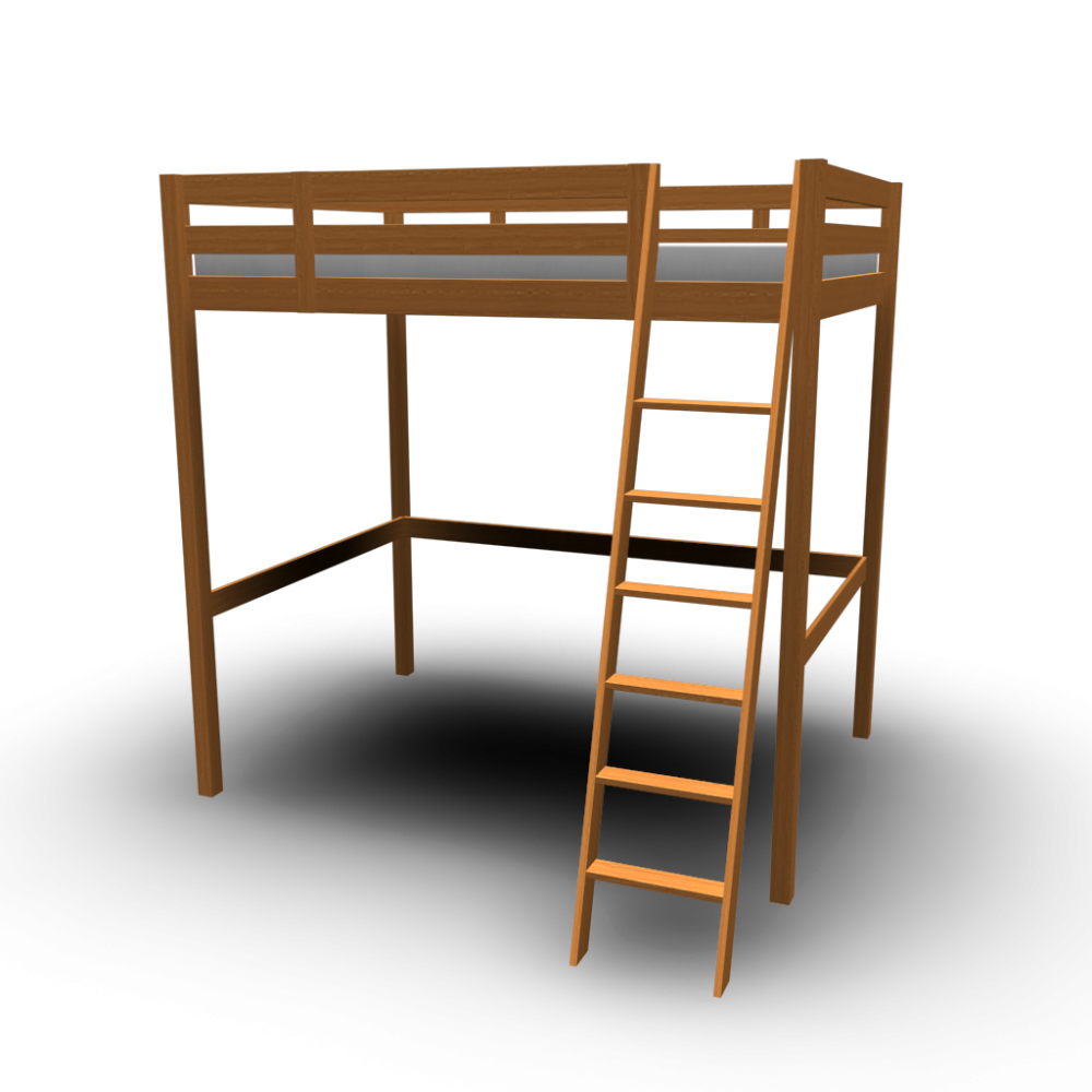 STORÅ Loft bed frame Design and Decorate Your Room in 3D