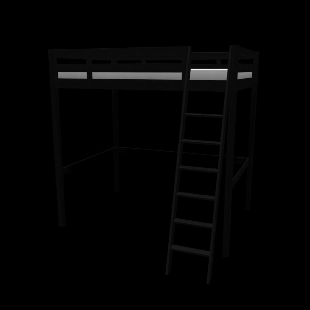 stor hochbettgestell einrichten planen in 3d. Black Bedroom Furniture Sets. Home Design Ideas