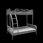 TROMSÖ Bunk bed frame for your 3d room design