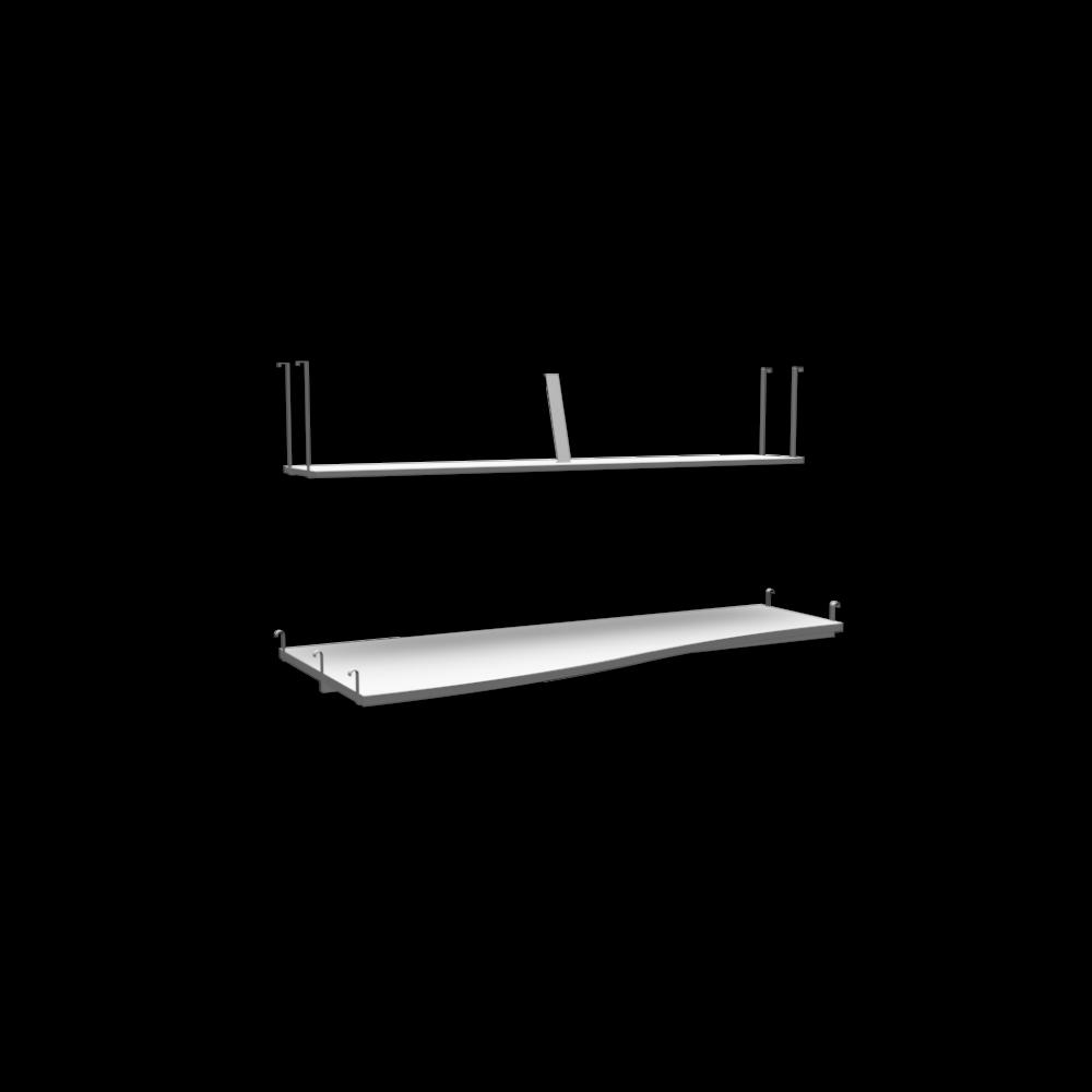 troms desk top and shelf by ikea