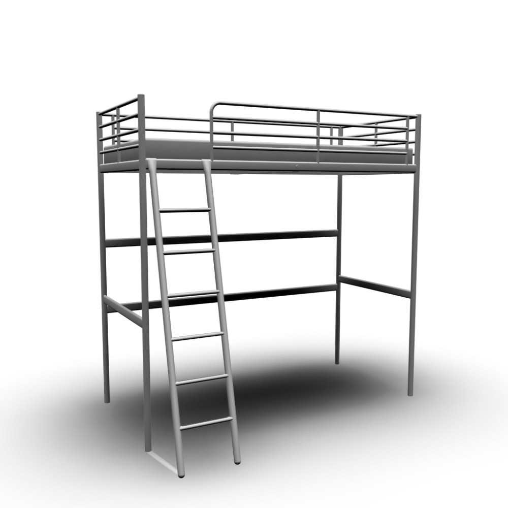 troms loft bed frame 10 variants beds start 3d room design producer