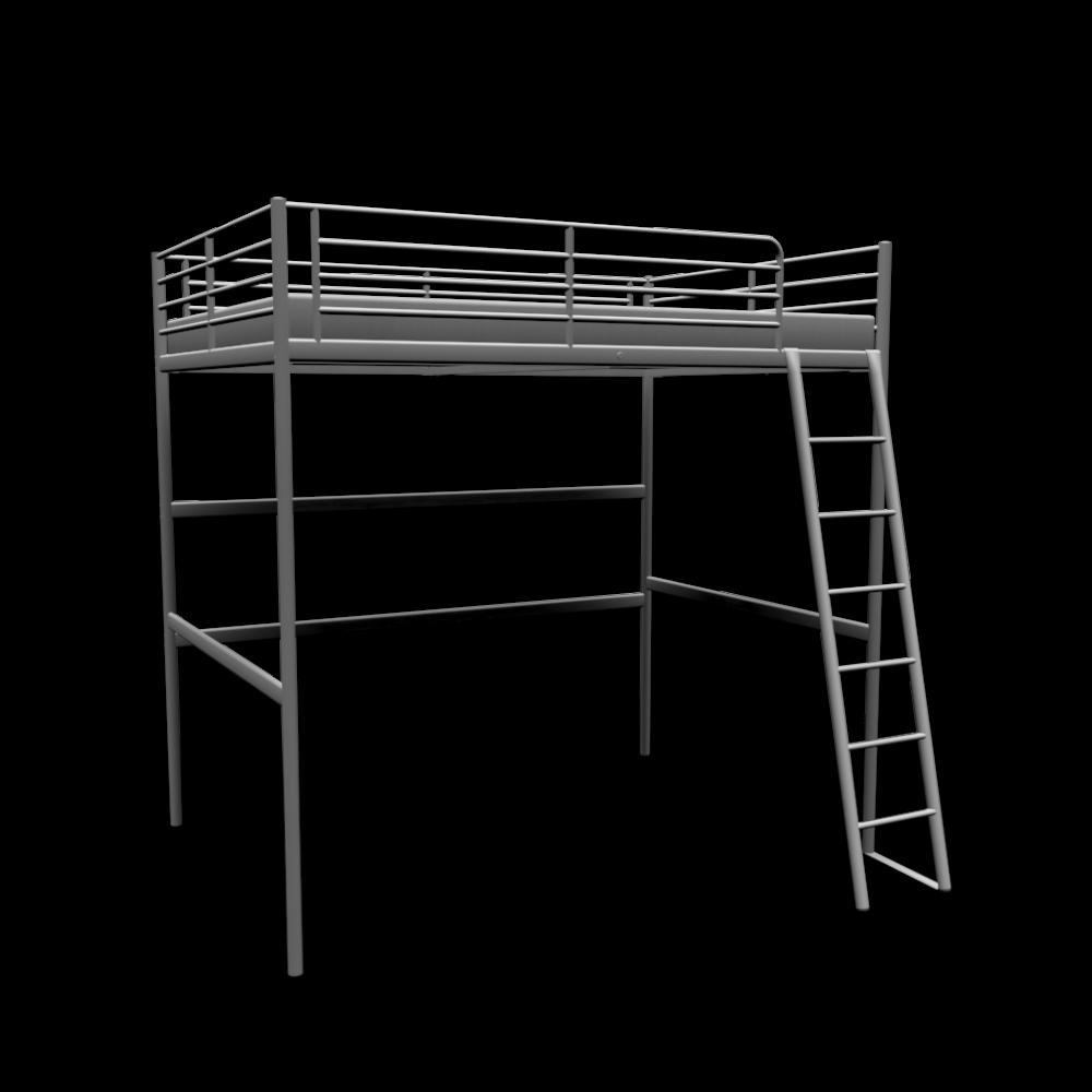 troms hochbettgestell einrichten planen in 3d. Black Bedroom Furniture Sets. Home Design Ideas