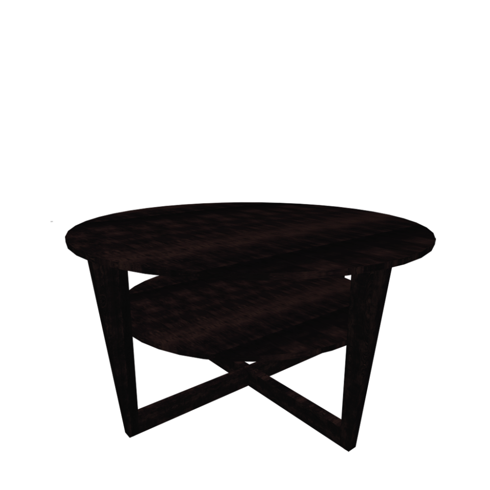 Vejmon coffee table black brown design and decorate for Table en teck ikea
