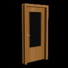 Innentür Holz mit Glaseinsatz für die 3D Raumplanung