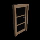 Innentür Holz mit Glas für die 3D Raumplanung