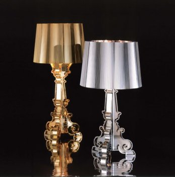 Bourgie Gold table lamp by Kartell