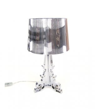 Bourgie silver table lamp by Kartell