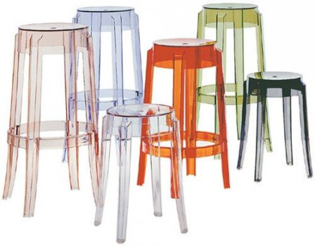 Charles Ghost bar stool by Kartell