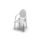 Louis Ghost Chair for your 3d room design