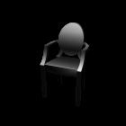 Louis Ghost Stuhl für die 3D Raumplanung