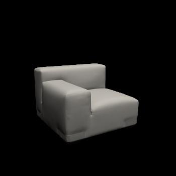 Plastics Duo- Sessel Armlehne links von Kartell