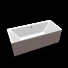 myDay Badewanne 1800x800 mm mit Bohrung für Überlauf an Wandseite von Keramag Design