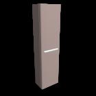 myDay Hochschrank 400x250x1500 mm, Korpus/Front: Taupe Hochglanz für die 3D Raumplanung