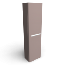myDay Tall cabinet 400x250x1500 mm, body/door: taupe high gloss for your 3d room design