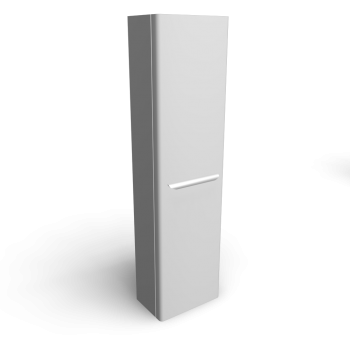 myDay Tall cabinet 400x250x1500 mm, body/door: white high gloss by Keramag Design