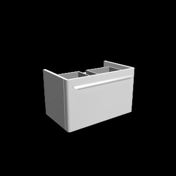 myDay Waschtischunterschrank 680x405x410 mm, Korpus/Front: Weiß Hochglanz von Keramag Design