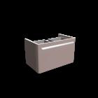 myDay Waschtischunterschrank 680x405x410 mm, Korpus/Front: Taupe Hochglanz für die 3D Raumplanung