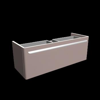 myDay Waschtischunterschrank 1160x405x410 mm, Korpus/Front: Taupe Hochglanz von Keramag Design