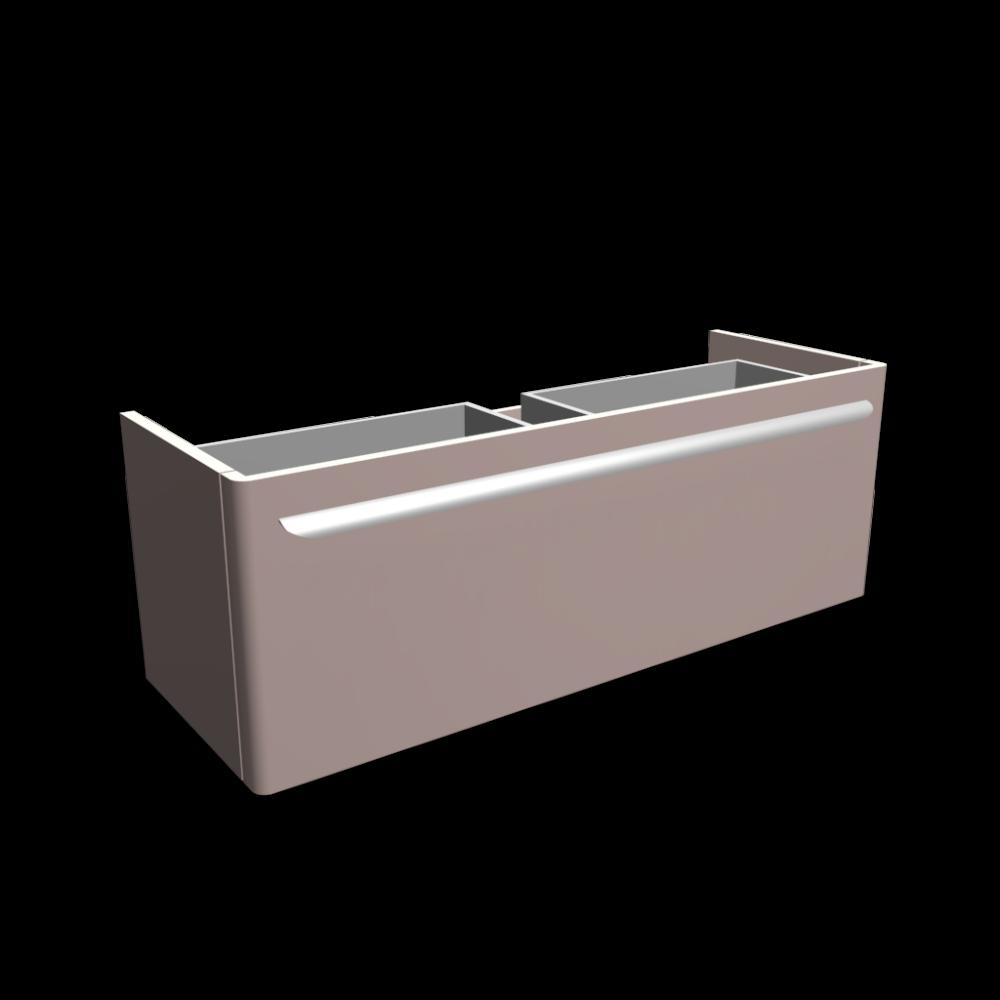 myday waschtischunterschrank 1160x405x410 mm korpus front taupe hochglanz einrichten. Black Bedroom Furniture Sets. Home Design Ideas