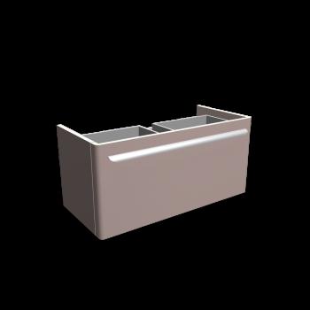 myDay Waschtischunterschrank 880x405x410 mm, Korpus/Front: Taupe Hochglanz von Keramag Design