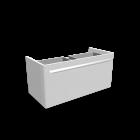 myDay Waschtischunterschrank 880x405x410 mm, Korpus/Front: Weiß Hochglanz für die 3D Raumplanung