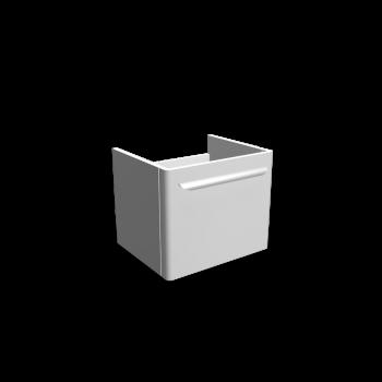 myDay Waschtischunterschrank 495x405x410 mm, Korpus/Front: Weiß Hochglanz von Keramag Design