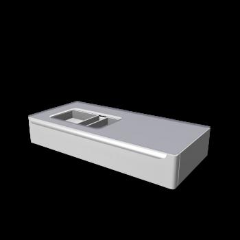 myDay Waschtischunterschrank 1150x520x200 mm, mit Hahnloch links von Keramag Design