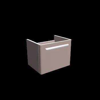 myDay Waschtischunterschrank 540x405x410 mm, Korpus/Front: Taupe Hochglanz von Keramag Design