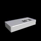myDay Waschtischunterschrank 1150x520x200 mm, mit Hahnloch rechts für die 3D Raumplanung