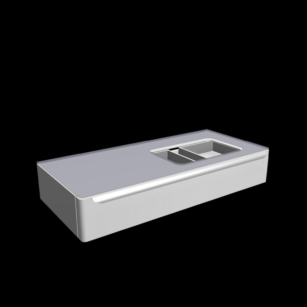 myday waschtischunterschrank 1150x520x200 mm mit hahnloch rechts einrichten planen in 3d. Black Bedroom Furniture Sets. Home Design Ideas