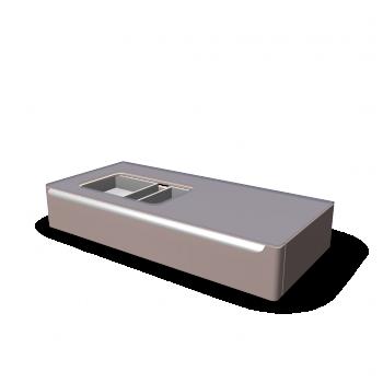 myday waschtischunterschrank 1150x520x200 mm mit hahnloch links einrichten planen in 3d. Black Bedroom Furniture Sets. Home Design Ideas