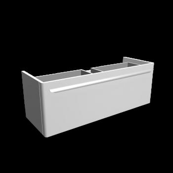 myDay Waschtischunterschrank 1160x405x410 mm, Korpus/Front: Weiß Hochglanz von Keramag Design