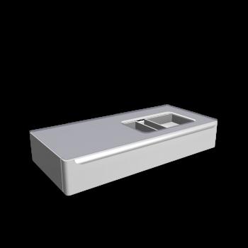 myDay Vanity unit 1150x520x200 mm, body/door: white high gloss by Keramag Design