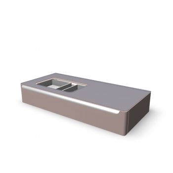 myDay Vanity unit 1150x520x200 mm, body/door: taupe high gloss by Keramag Design