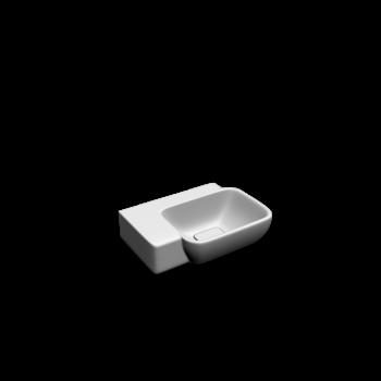 myDay Handwaschbecken 400x280 mm, ohne Überlauf, mit Hahnloch links von Keramag Design