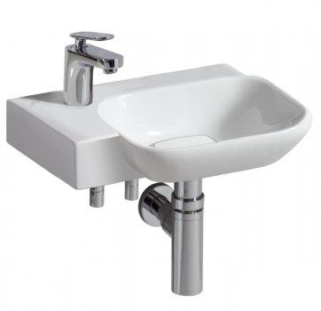 myday handwaschbecken 400x280 mm ohne berlauf mit hahnloch links einrichten planen in 3d. Black Bedroom Furniture Sets. Home Design Ideas