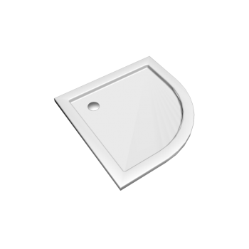 Preciosa 2 quarter-circle shower tub 900 x 900, white by Keramag Design