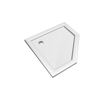 Preciosa 2 pentagonal shower tub 900 x 900, white by Keramag Design