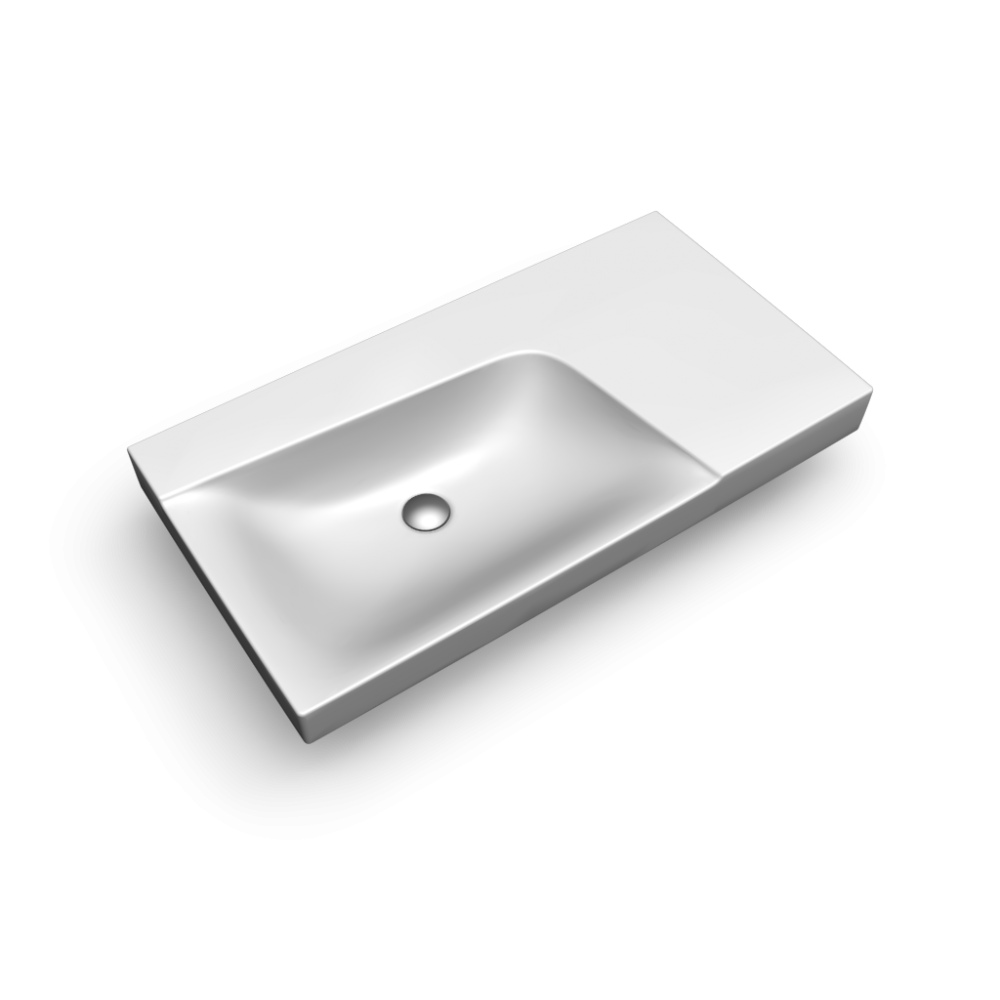 Xeno2 Wash Basin 900mm Right Shelf W Out T H Design