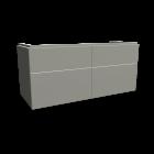 Xeno2 WTU 1200x530mm/ 4 Schubladen, Greige von Keramag Design