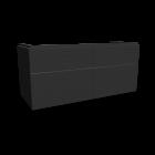Xeno2 WTU 1200x530mm/ 4 Schubladen, Grau von Keramag Design
