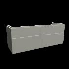 Xeno2 WTU 1400x530mm/4 Schubladen,Greige von Keramag Design