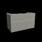 Xeno2 WTU 900x530mm/ 2 Schubladen, Greige von Keramag Design
