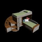 Kinderbettmöbel für die 3D Raumplanung