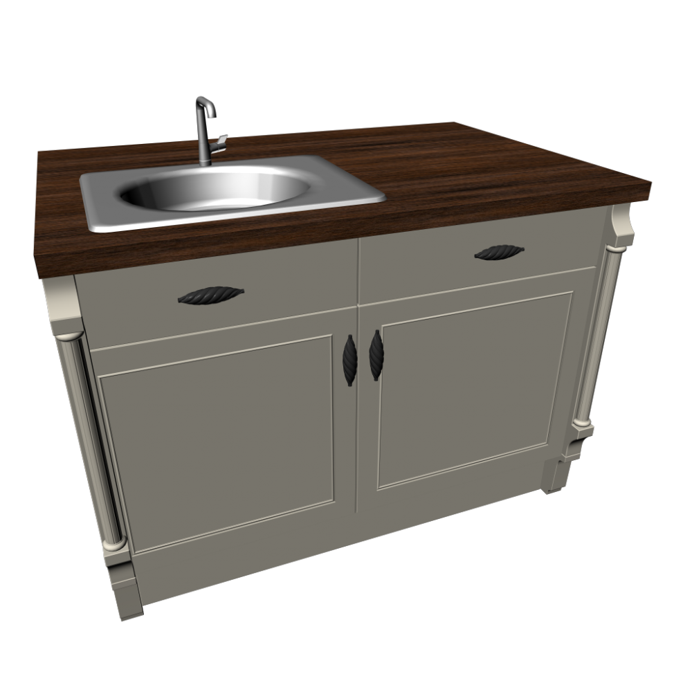 Kitchen island with sink - Design and Decorate Your Room in 3D