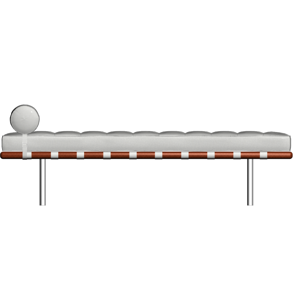 Bedroom bench dimensions - Barcelona Day Bed By Knoll Barcelona Day Bed By Knoll