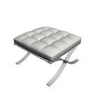 Barcelona footstool for your 3d room design