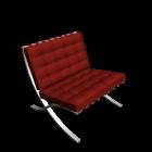 Barcelona Sessel für die 3D Raumplanung